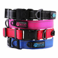 Max and Neo NEO Reflective Dog Collar - We Donate a Collar to a Dog Rescue for Every Collar Sold (X-SMALL, BLACK)
