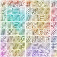 Mudder 144 Pieces Nail Vinyls Stencil Stickers Set, 24 Sheets 72 Different Designs Cute Easy Nail Art Nail Vinyls Nail Stencil Sheets