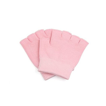 uxcell® Pink Half Finger Moisturizing Cracked Skin Spa Treatment Stretchy Gel Gloves 1 Pair