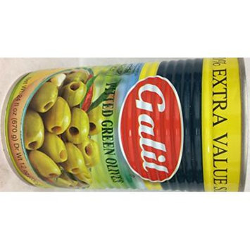 Galil Pitted Green Olives 24 Oz. Pk Of 3.