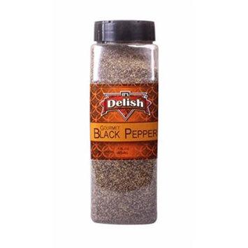 Black Pepper by Its Delish (Gourmet ground, 16 Oz. Large Jar)