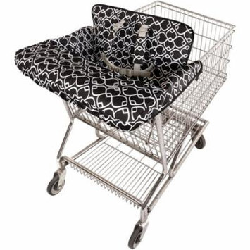 On the Goldbug 2-in-1 Shopping Cart and High Chair Cover, Black
