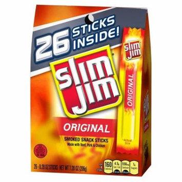 Slim Jim Original Beef Meat Sticks 7.8 oz 28 ct