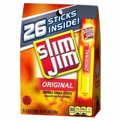 Slim Jim Original Beef Meat Sticks 7.8 oz 28 ct