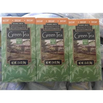 Trader Joe's Decaf Green Tea 20 Tea Bags (Pack of 3)
