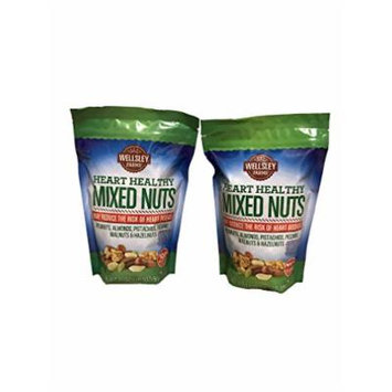 Wellsley Farms Heart Healthy Mixed Nuts, 21 Ounce (Pack of 2)