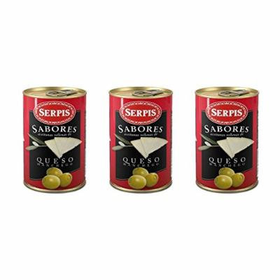 Serpis Manzanilla Green Spanish Olives Stuffed with Manchego Cheese (4.59 oz. (Pack of 3))