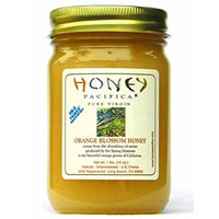 Orange Blossom Raw Honey by Honey Pacifica- Unheated and Unprocessed Honey - Fresh from a California Beekeeper