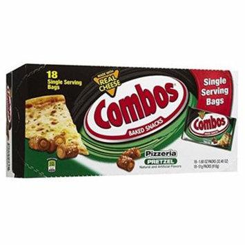 Combos Pizzeria Pretzel Baked Snacks 1.8 oz Bags - 18 Count