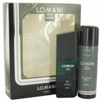 LOMANI by Lomani Gift Set -- 3.4 oz Eau De Toilette Spray + 6.7 oz Deodorant Spray