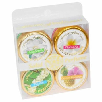 Hawaii Forever Florals Solid Perfume 4 Pack Assorted
