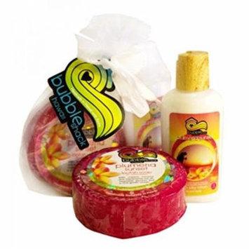 Hawaii Bubble Shack Loofah Soap & Body Lotion Duo Set Plumeria
