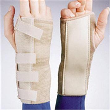 FLA Orthopedics 22-2011SSTD Elastic Cock - Up Wrist Brace Left Beige XS
