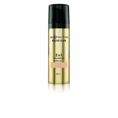 Max Factor Ageless Elixir 2 in 1 Foundation Plus Serum SPF 15, No.50 Natural, 1 Ounce []