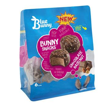 Blue Bunny Chocolate Hazelnut Ice Cream, 6 pk, 2.4 fl oz
