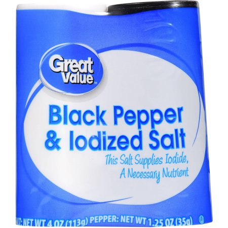 Wal-mart Stores, Inc. Great Value Black Pepper & Iodized Salt, 5.25 oz