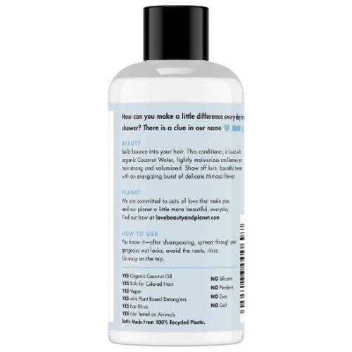 Love Beauty And Planet Coconut Water & Mimosa Flower Volume And Bounty Conditioner - 3 fl oz