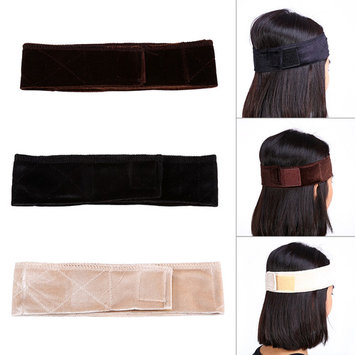 Women Velvet Wig Grip Scarf Head Wrap Headband Adjustable Hair Band Accessery