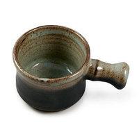 Hand Thrown Apothecary Mug with Handle, Grey-Handmade in USA, Perfect Shaving Bowl. …