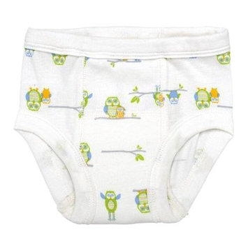 green sprouts Organic Training Underwear, White, 3T, 2 Count