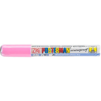 Zig Posterman Broad Tip Marker-Fluorescent Pink 12PK