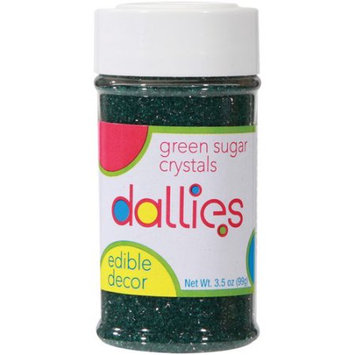Xcell International Corp Dallies Green Sugar Crystals Edible Decor, 3.5 oz