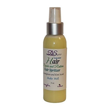 Hair Repair and Restore Spritzer, Lemongrass and Kiwi Scent with Keratin, By Diva Stuff- Safe and Natural