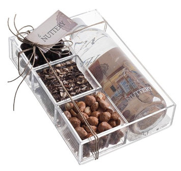 The Nuttery Ny The Nuttery Corporate Gift Box, Chocolate and Nut - 4 Sections