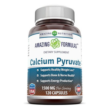 Amazing Nutrition Calcium Pyruvate, 1500 Mg, 120 Capsules