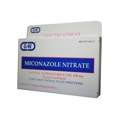 G & W Laboratories Miconazole Nitrate Vaginal Suppositories USP 100mg