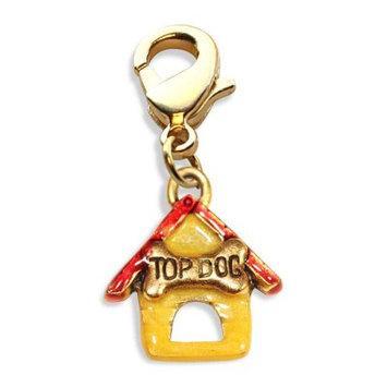 David Shaw Silverware Na Ltd Dog House Charm Dangle in Gold