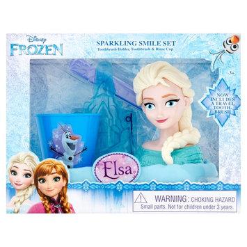 Disney Frozen Elsa Toothbrush, Toothbrush Holder, Rinse Cup Gift Set, 3pcs