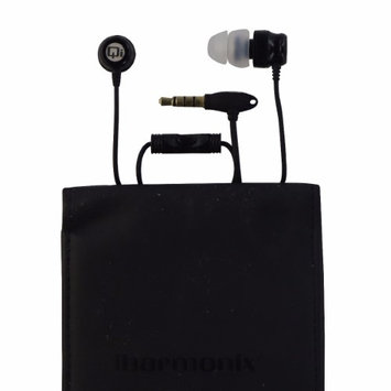 Qmadix Qi-7 Earset - Stereo - Gloss Black - Mini-phone - Wired - Gold Plated - Earbud - Binaural - Open - Noise Cancelling Microphone