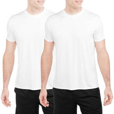 Men's Poly Stretch Performance Undershirt, White, 2 Ct