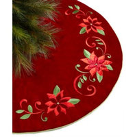 Red Poinsettia Tree Skirt, Created for Macy's