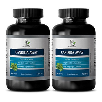 Herbal detox - CANDIDA AWAY Extra Strength - Candida relief - 2 Bottles 120 Capsules