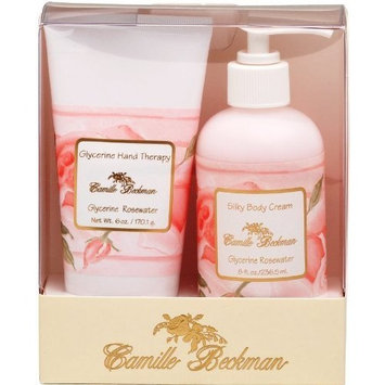 Camille Beckman Hand and Body Duet Set, Silky Body and Glycerine Hand Cream, Glycerine Rosewater [Glycerine Rosewater]