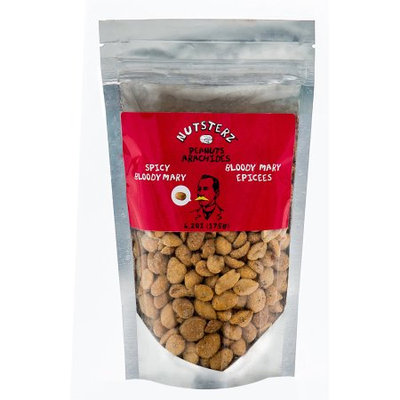 Basse Nuts Nutsterz Spicy Bloody Mary Peanuts (6.24oz.) Bloody Good, Spicy Nice, Bloody Mary Mix Nuts; Mixing Like A DJ Dipped In Hot Tabas