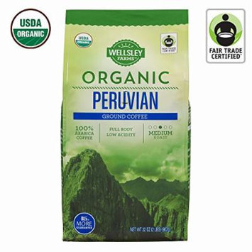 Wellsley Farms Organic Peruvian Ground Coffee, 32 oz (pack of 6)