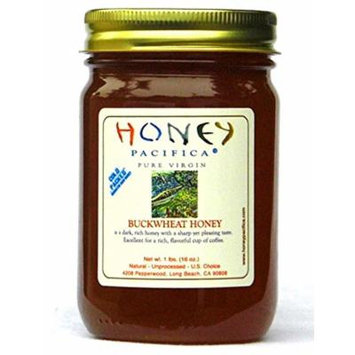 Buckwheat Raw Honey by Honey Pacifica- Unheated and Unprocessed Honey - Fresh from a California Beekeeper