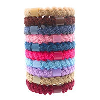 Fashion & Lifestyle Hair Ties Ponytail Holders - Large Boutique Girls Stretchy Elastic Hair Ropes Bands Styling Accessories for Women and Ladies Pack of 10