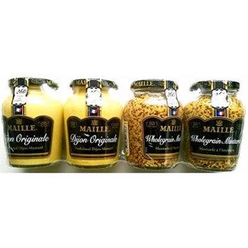 Maille Mustard 4 Pack - (2 X 215Gm Dijon & 2 X 210Gm Wholegrain Mustard)