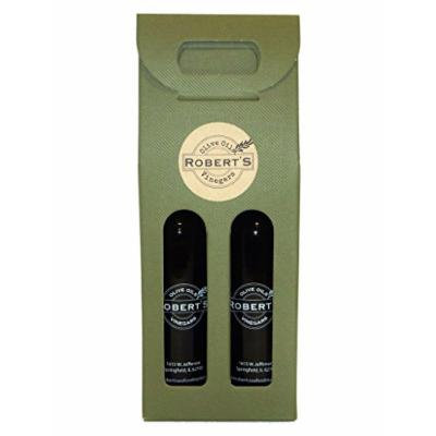Robert's Extra Virgin Infused Olive Oil - 2 (375ml) bottle gift pack - Garlic and Tuscan