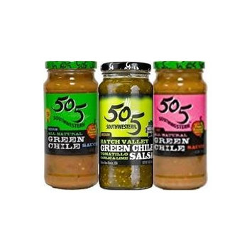 505 Southwestern Salsa & Sauce Sampler 16oz Jar (Variety Pack of 3)