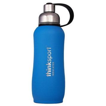 Thinksport Insulated Sports Bottle, Coated Light Blue, 25 Oz (750ml)