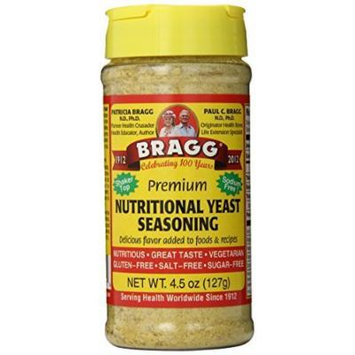 Bragg Nutritional Yeast Seasoning, Premium, 4.5 Ounce by Bragg