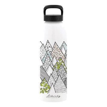 Liberty Bottle Works Liberty Bottleworks Recycled 3003 Aluminum Coils BPA Free Flexible Food-grade Coating 24oz. Bottle (Fractal)