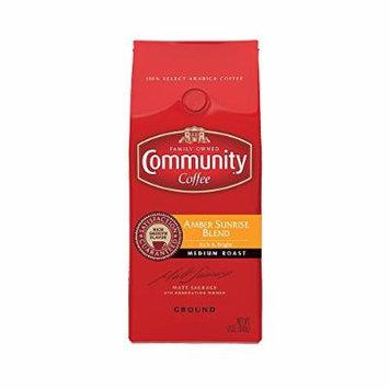 Community Coffee Premium Ground Coffee, Amber Sunrise Blend, Medium Roast, 12 oz., (Pack of 3)