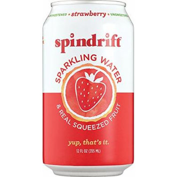 Spindrift Sparkling Water, Strawberry, 12oz. Cans (Pack of 12)