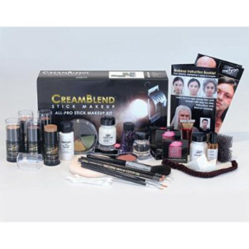 Mehron CreamBlend Stick All Pro Makeup Kit | Face, Hair, Eye Contouring, Stage, Films, TV, Video, Photography, Theatrical Makeup & More | Long Lasting Professional Set (Olive)